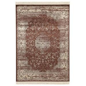 Teppich Fringes in Braun