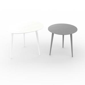 Couchtisch Grau - Eleganter Sofatisch: Beste Qualität, einzigartiges Design - 67/50 x 50/47 x 50/50 cm, Konfigurator