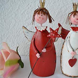 Maison en France Engel - 2 Stück hübsche Weihnachtsengel, stabil -