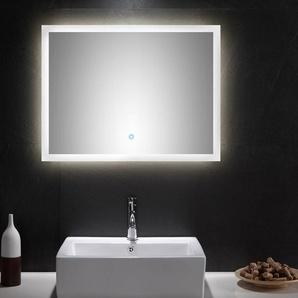LED Spiegel 80x60 cm mit Touch Bedienung