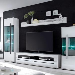 Wohnwand, weiß, pflegeleichte Oberfläche, FSC®-zertifiziert