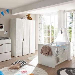 Babyzimmer 4 Tlg In Weiss Und Abs Eiche Sonoma Truffel NB
