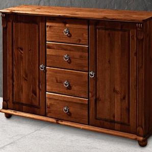 Sideboard Home affaire »Tessin«, braun, Gr. onesize, HOME AFFAIRE, Material: Kiefer, Öl