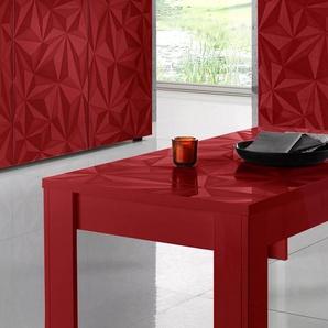 Lc Couchtisch »Prisma«, rot, pflegeleichte Oberfläche