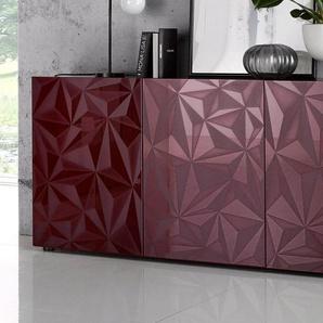 Lc Sideboard »Prisma«, rot, pflegeleichte Oberfläche