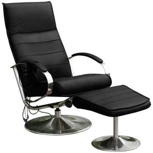 Alpha Techno Massagesessel, schwarz, 2 Jahre Hersteller-Garantie, hoher Sitzkomfort
