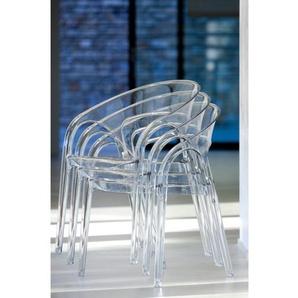 Pedrali Gossip 620 Stuhl 2-er-Set - transparent