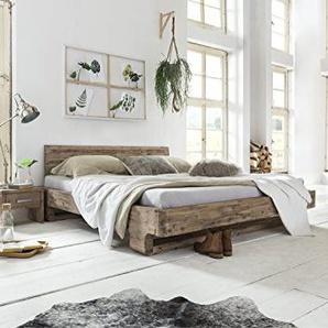 Woodkings Bett 180x200 Mayfield Doppelbett Akazie weiß gebürstet Schlafzimmer Massivholz Design Doppelbett Massive Naturmöbel Echtholzmöbel günstig
