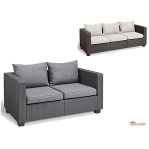 Allibert Lounge Sofa »Salta«, »Sunbrella« Kissen, 2- oder 3-Sitzer, in Rattanoptik