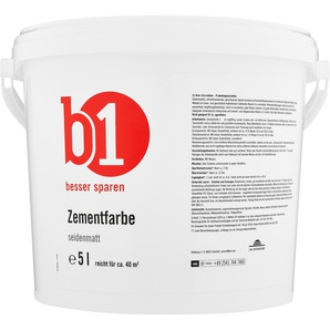 B1 Zementfarbe seidenmatt grau 5 l