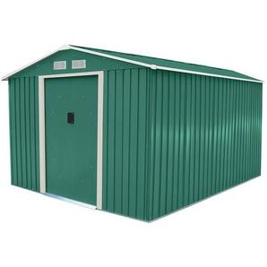 Geräteschuppen / Gartenhaus - Aus Metall mit Zinkrahmen - 305 x 244 cm - Grün - CHARLES BENTLEY