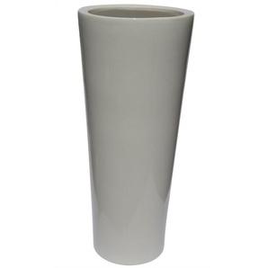 Konische Bodenvase /Vase aus Keramik H 70 /Ø 29 Weiß glänzend