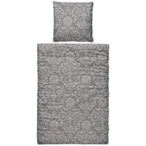 Bettwäscheset Ikat, B:135cm x L:200cm, grau