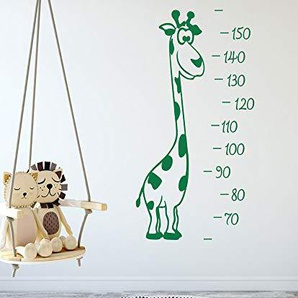 GRAZDesign 300251_100x57_WT081 Wandtattoo Messlatte für Kinder mit Giraffe - Geschenkidee für Jungs oder Mädchen - zum kleben an die Wand (100x57cm // 081 Hellbraun)