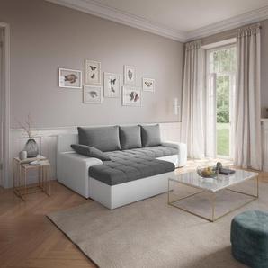 Sit&more Ecksofa, grau, hoher Sitzkomfort