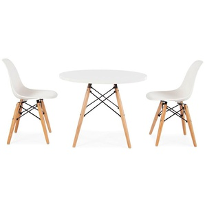 Eames Kinder Tisch - 2 DSW Stühle