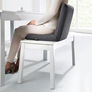 Bullfrog Bankkissen, Sitzkissen, stützende Rückenlehne, verstellbar, 76,5 x 38 cm, Anthrazit, aus Polyester