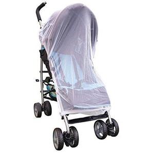 DRULINE Moskitonetz Insektenschutz Universal Mückenschutz Kinderwagen Buggy Tragebett Weiß