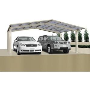 Ximax Design-Doppelcarport Linea 60 M-Ausführung, Farbe der Profile:Edelstahllook