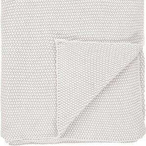 Marc O'polo Home Plaid »Nordic Knit«, 130x170 cm, weiß