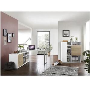Möbel-Set »Paseo« 2-teilig, Kompaktschreibtisch Bügelfuß eiche, Germania-Werke