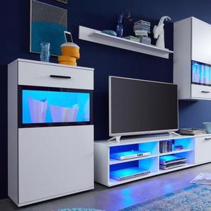 Trendteam Wohnwand »Swing«, weiß, pflegeleichte Oberfläche, FSC®-zertifiziert