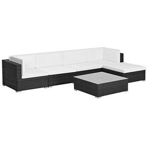 vidaXL Gartenmöbel 17-TLG. Poly Rattan Sofa Sitzgruppe Lounge Sitzgarnitur