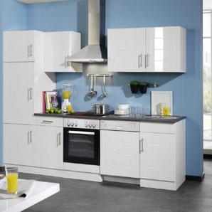 Held Möbel 658.6033 Küchenzeile 280 in Hochglanz-weiß / anthrazit