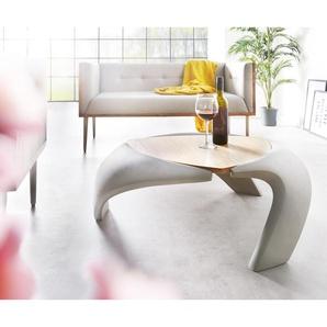 Couchtisch Rock 90x90 cm Grau Beton Optik Holz Ablage, Couchtische