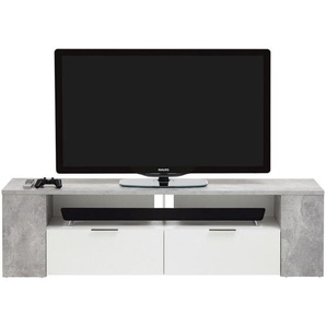 : TV-Element, Holzwerkstoff, Grau, Weiß, B/H/T 180 50 40