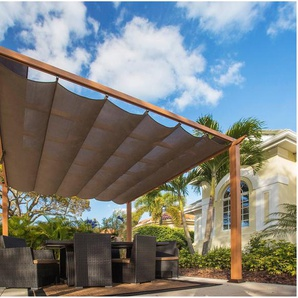 50NRTH Pergola »Aluminium Pavillon Florida 11x11«, BxL: 350x350 cm, inkl. Sonnensegel