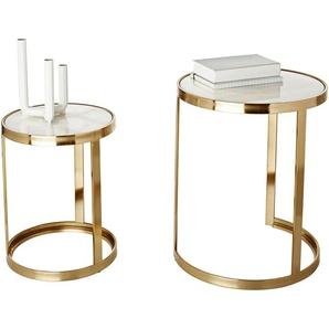 Beistell-Tisch 2er-Set, goldfarben, Gr. onesize,  home