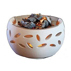 Duftlampe Raumduft Vitalofen Saunasteine Duftmischung Teelicht Stövchen groß