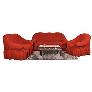 Stretch Sesselschoner, Sesselbezug, Sesselhusse aus Baumwolle & Polyester in terracotta terakotta