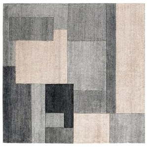 Handgeknüpfter Teppich JOY 120 x 180 cm in Grau