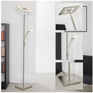 Briloner Leuchten LED Stehlampe »Anna«, 2-flammig, Stehleuchte dimm- und schwenkbar, inkl. Leselampe