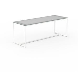 Beistelltisch Kristallglas satiniert - Eleganter Nachttisch: Hochwertige Materialien, einzigartiges Design - 121 x 45 x 42 cm, Komplett anpassbar