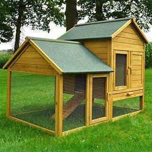 Zooprimus Kaninchenstall 07 Hasenkäfig - HASENFARM - Stall für Außenbereich (für Kleintiere: Hasen, Kaninchen, Meerschweinchen usw.)