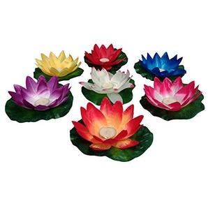 10 Stück Wasserlaterne Lotusblüte Seerose Schwimmlaterne Schwimmkerzen Laterne Teelichter Kerzen Bunt Schwimmlichter
