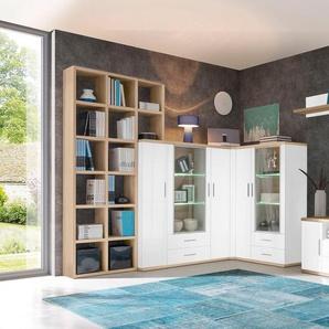Trendteam Wohnwand »Arena«, weiß, pflegeleichte Oberfläche, FSC®-zertifiziert