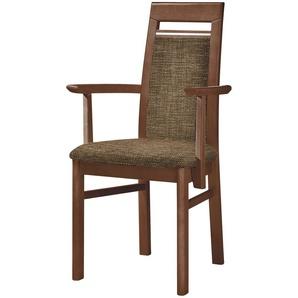 Stuhl Buche nussbaum natur Stoff macciato,  Cristal ¦ braun ¦ Maße (cm): B: 60 H: 99 T: 56 Stühle  Esszimmerstühle  Esszimmerstühle ohne Armlehnen » Höffner