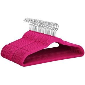 100 Stück Kleiderbügel Anzugbügel 360° drehbarer Haken mit Rutschfeste Oberfläche samt Pink - YAHEETECH