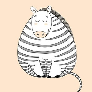 Lüttenhütt Leinwandbild Zebra