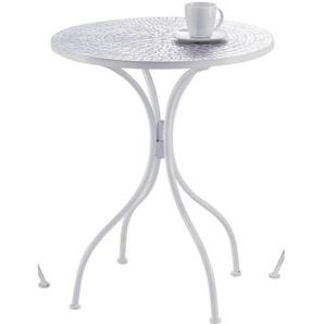 Ambia Home: Tisch, Weiß, H 72
