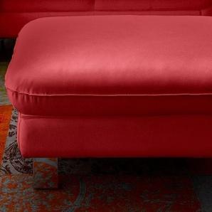 COTTA Hocker, rot, Luxus-Kunstleder