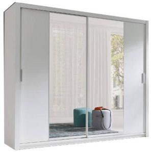 JUSTyou Vista 220 Schwebetürenschrank Kleiderschrank Garderobe Garderobensetnschrank Schlafzimmer Weiß