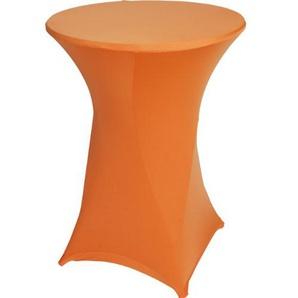 Stehtischhusse Stretch Husse für Tisch Ø80-85cm orange
