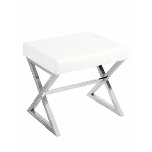 Hocker mit gepolsterter Sitzfläche, weiß, Gr. onesize,  home