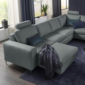 Set One By Musterring Wohnlandschaft »SO 1100«, grau, B/H/T: 334x45x53cm, 5 Jahre Hersteller-Garantie, hoher Sitzkomfort
