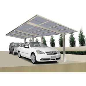 Ximax Design-Doppelcarport Linea 80 Tandem, Farbe der Profile:Edelstahllook